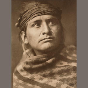 Edward S. Curtis (1868-1952); A Chief of the Desert-Navaho;