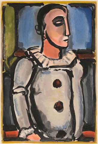 Georges Rouault (1871-1958); Pierrot, Pl. 14,  from Cirque de l'Etoile Filante;