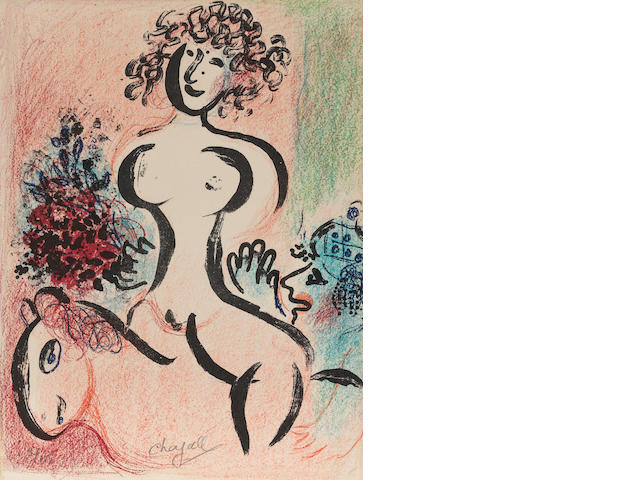 Marc Chagall (1887-1985); Écuyère au Bouquet, from Chagall Lithographe Vol.II 1957-1962;