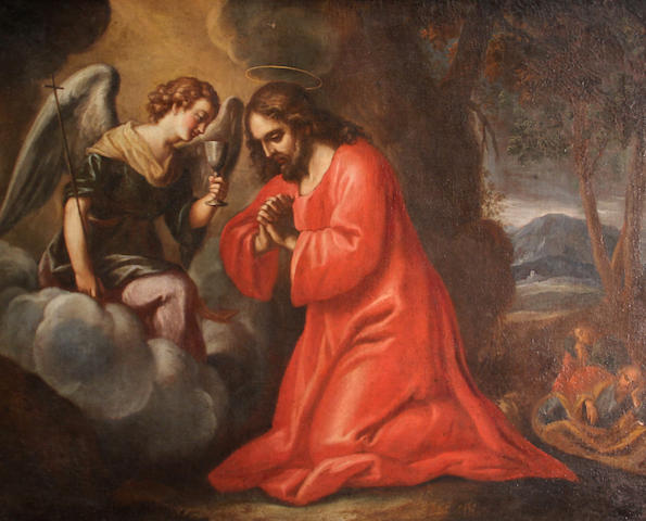 Florentine School The Agony in the Garden 28 3/4 x 36 3/4in