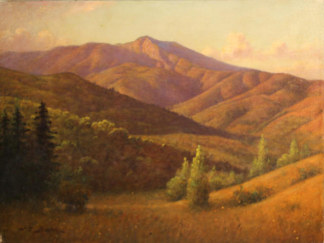 William Barr (British/American, 1867-1933) Marin hillside, Mount Tamalpais 18 x 24in