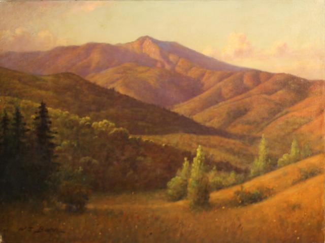 William Barr (British/American, 1867-1933) Marin hillside, Mount Tamalpais 18 x 24in