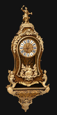 A Louis XIV style gilt-bronze-mounted and boulle marquetry bracket clock<BR />François Ledoux<BR />late 19th century