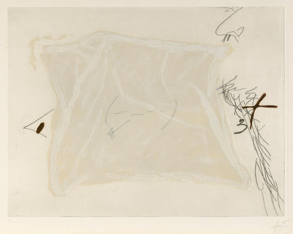 Antoni Tàpies (1923-2012); Mouchoir;