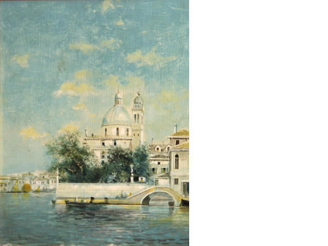 Attributed to Martin Rico y Ortega (Spanish, 1833-1908) A Venetian view 10 x 7 3/4in (25.3 x 19.7cm)