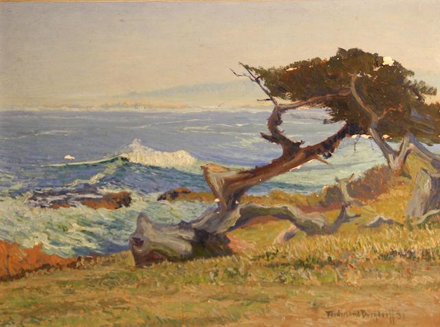 Ferdinand Burgdorff (American, 1881-1975) Carmel coast, 1931 11 3/4 x 15 3/4in