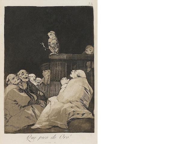 Francisco José de Goya y Lucientes (1746-1828); Que Pico de Oro!, pl. 53, from Los Caprichos;