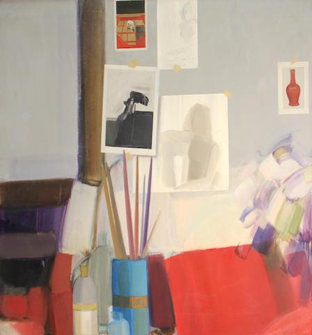 Elizabeth Osborne (American, born 1936) Studio still life, 1966 39 1/2 x 44in