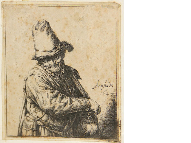 Adriaen Jansz. van Ostade (Dutch, 1610-1685); Organ-Grinder (Hurdy-Gurdy);