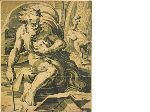 Ugo da Carpi (Italian, born circa 1480-died circa 1520); Diogenes, after Parmigianino;