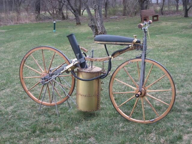 A fine full size static replica of an 1867-1869  Roper steam powered velocipede