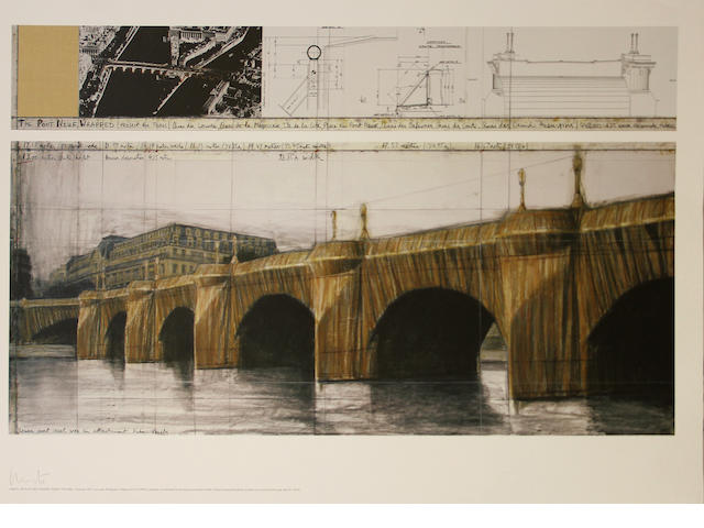Christo (American, born 1935); The Pont Neuf Wrapped, Project for Paris, I;