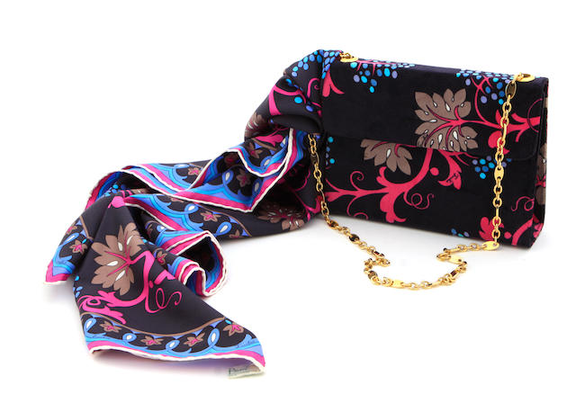 A Pucci purse and scarf