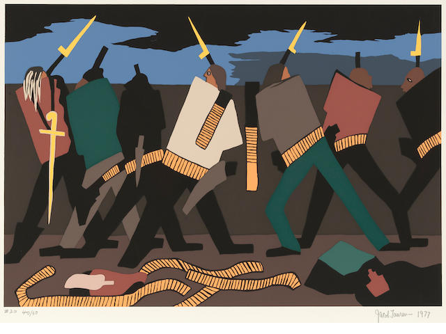 Jacob Lawrence (1917-2000); Pls.  3, 7, 15 and 20, from The Legend of John Brown; (4)