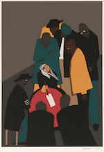 Jacob Lawrence (1917-2000); Four Plates, from The Legend of John Brown; (4)