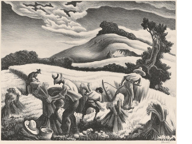 Thomas Hart Benton (1889-1975); Cradling Wheat;