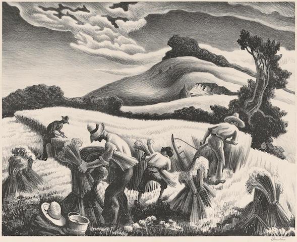Thomas Hart Benton (1889-1975); Cradling Wheat;