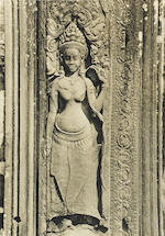 ANGKOR WAT—PHOTOGRAPH ALBUM. An album of 93 matte gelatin silver print photographs of Angkor Wat, approximately 7 x 9 inches, 1930s,