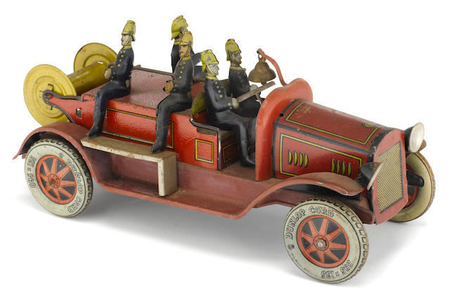 A German Lithographed Fire Truck,