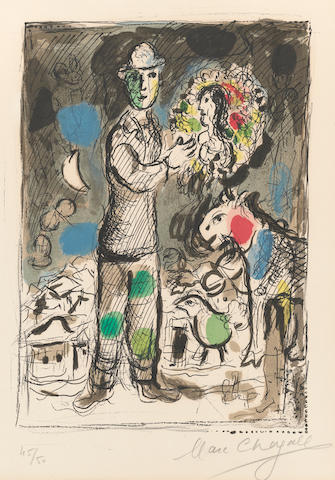 Marc Chagall (1887-1985); Peasant with a Bouquet;