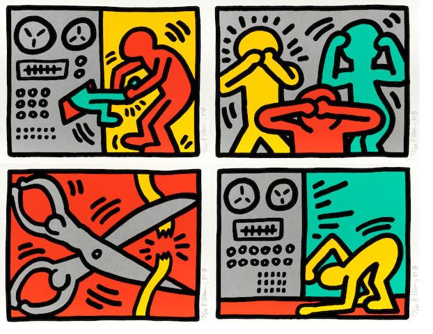 Keith Haring (1958-1990); Pop Shop III ;