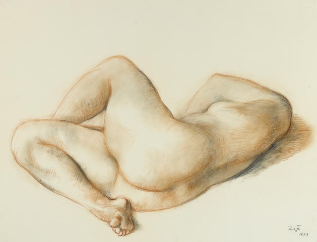 Francisco Zúñiga (1912-1998) Desnudo, 1972 19 3/4 x 25 3/4in. (50 x 65.3cm)