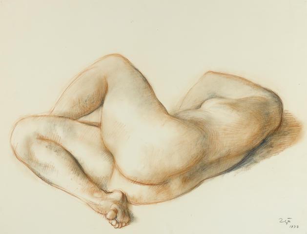 Francisco Zúñiga (1912-1998) Desnudo de Espaldas, 1972 21 3/4 x 27 3/4in