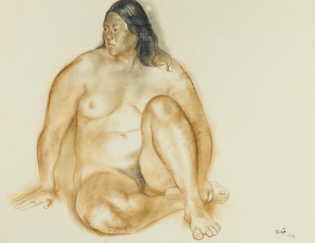 Francisco Zúñiga (1912-1998) Desnudo de Rosa, 1973 19 3/4 x 25 5/8in. (50 x 65cm)