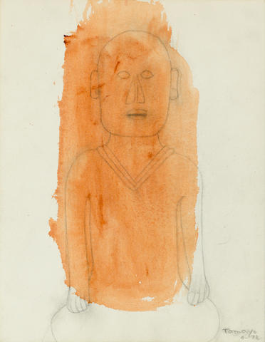 Rufino Tamayo (1899-1991) Untitled, 1972 13 1/4 x 10 1/4in. (33.7 x 26cm)