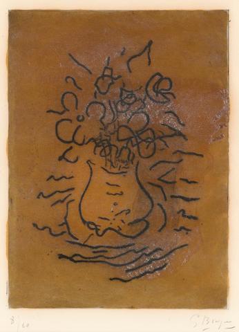Georges Braque (1882-1963); Fleurs;