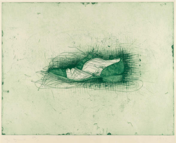 Jim Dine (American, born 1935); Shoe (second state);