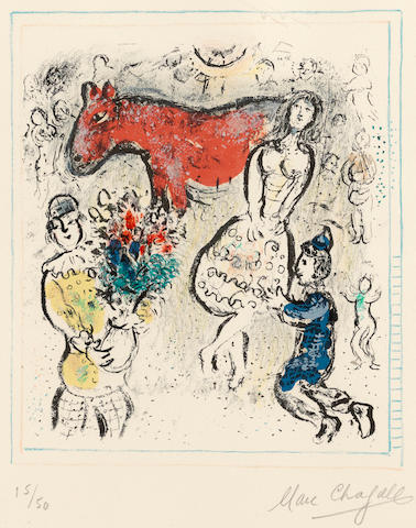 Marc Chagall (1887-1985); The Little Red Horse;