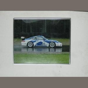 A lot of five Porsche racing images.