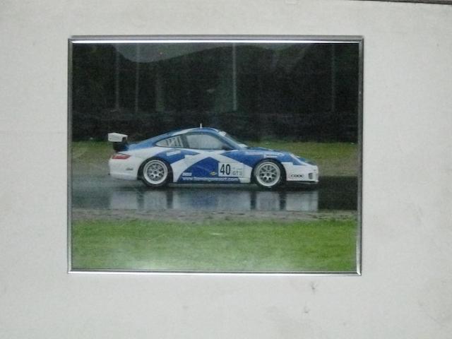 A lot of five Porsche racing images.