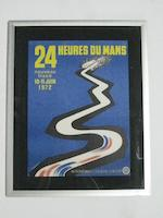 A lot of three 24 Heurs Du Mans posters from the 70s,