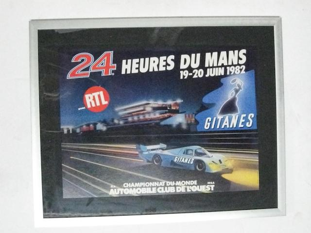 A lot of three 24 Heurs Du Mans posters from the 80s,