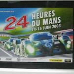 A lot of three 24 Heurs Du Mans posters from the 2000s,