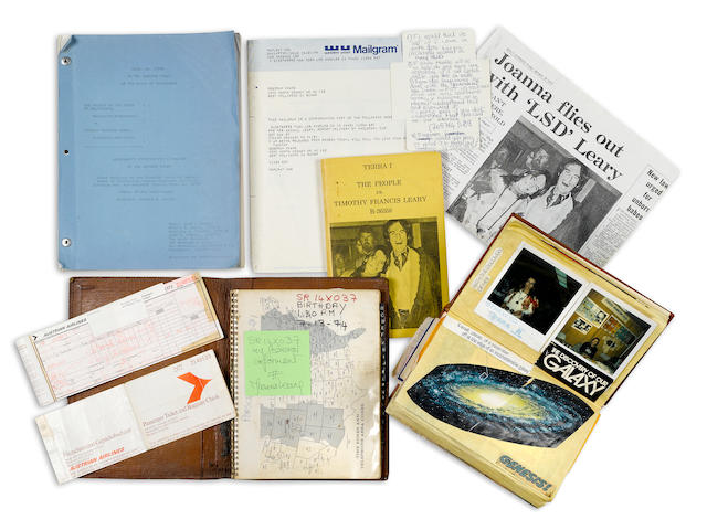 [LEARY, TIMOTHY. 1920-1996.] Group lot of material related to the flight, capture, and imprisonment of Timothy Leary, 1972-76, including