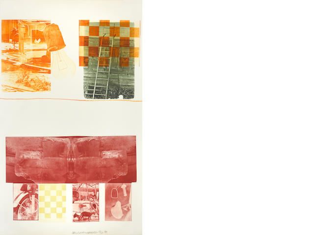 Robert Rauschenberg (1925-2008); Lithograph II, from Glacial Decoy Series;