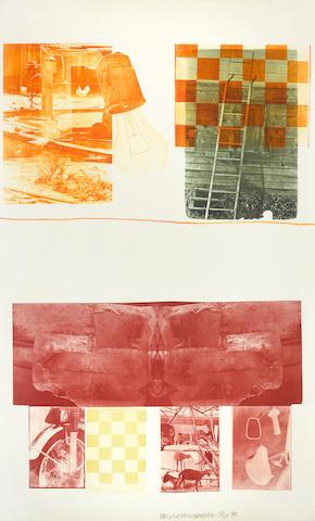 Robert Rauschenberg (1925-2008); Lithograph II, from Glacial Decoy Series;