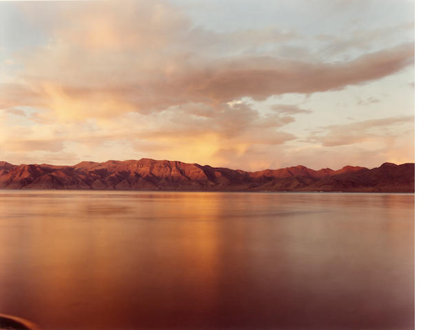 Richard Misrach, Pyramid Lake #6, 1994, ed 4/25, chromogrenic print, framed (check for fading).  Curt Marcus Gallery, NY. ///