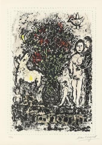 Marc Chagall (1887-1985); Evocation;