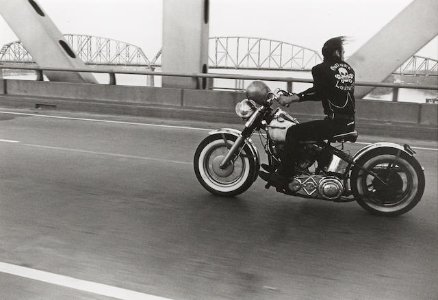 Danny Lyon, Crossing the Ohio, Gelatin, silver print, Signed