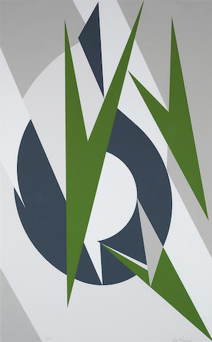 Lee Krasner (1911-1984); Embrace, from The Superlative U.S. Olympic Editions;