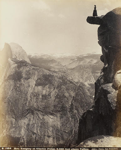 PHOTOGRAPHY—THE WEST. Album containing 56 albumen prints, predominately 6½ x 8½ to 7½ x 11½ inches,