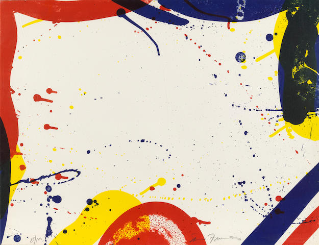 Sam  Francis (1923-1994); Untitled, from Portfolio 9;