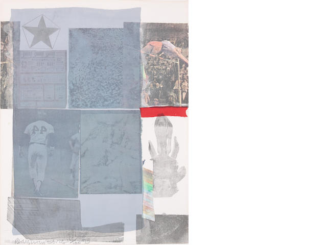 Robert Rauschenberg (1925-2008); Back Out, from Suite of Nine Prints;