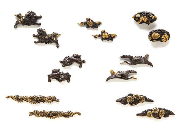 seven pairs of menuki