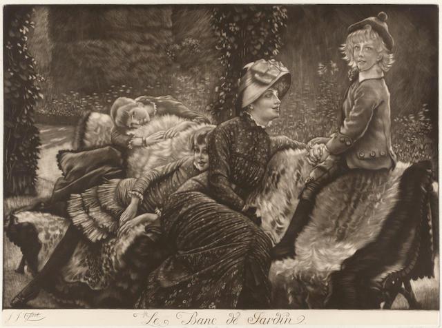 James Jacques Joseph Tissot (1836-1902); Le banc de jardin;
