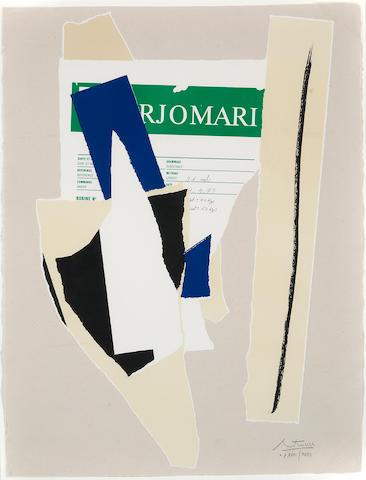 Robert Motherwell (1915-1991); America - La France Variations IX;